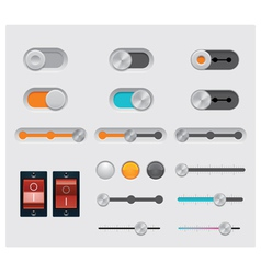 ui buttons set vector image vector image