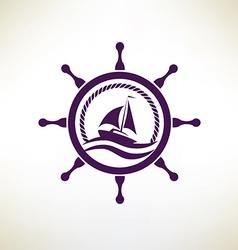 yacht symbol regatta and travel concept vector image