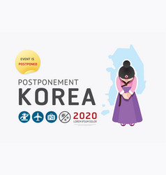 2020 korea postponement carnival festival vector image