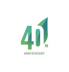40 th anniversary logo template design vector