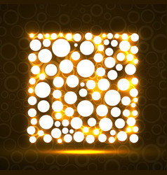 abstract square of glowing circles vector image