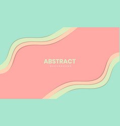 abstract stylish paper cut background design vector image