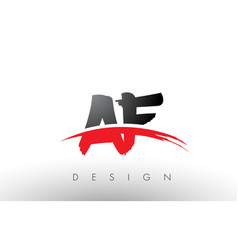 Af a f brush logo letters with red and black vector