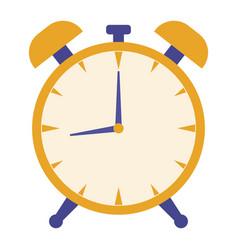 alarm clock modern design concept in flat style vector image