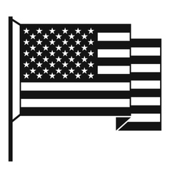 American flag icon simple style vector image
