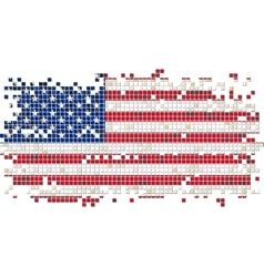 American grunge tile flag vector