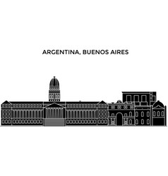 argentina buenos aires architecture city vector image
