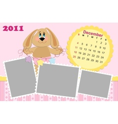 Babys monthly calendar for december 2011s vector