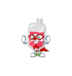 Bag blood cartoon design concept dressed as vector