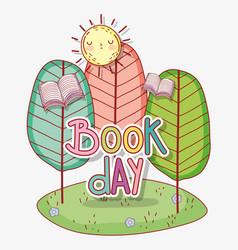 Book day celebration event to literature vector