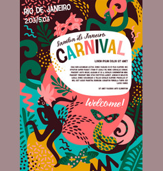 Brazil carnival with trendy vector