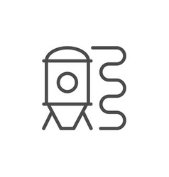 brewing system line outline icon vector image