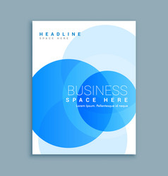 Business cover page brochure template vector