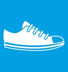 Canvas sneaker icon white vector