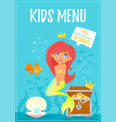 children menu meal template vector image