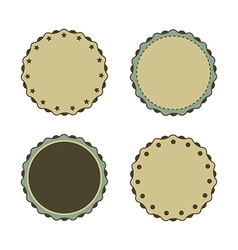 Circle sticker vintage promotions or qualities vector image