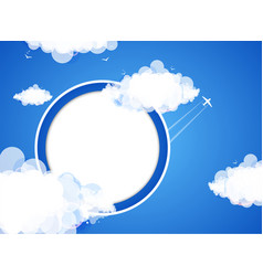 Cloud theme background vector