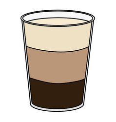 Coffee shake fresh icon vector