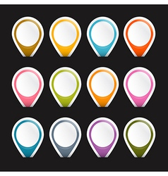 Colorful Empty Labels Set Isolated on Black vector image