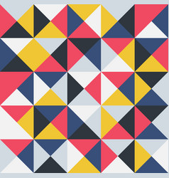 colorful geometric seamless pattern retro trendy vector image