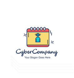 Cyber company calender logo with white background vector