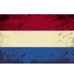 Dutch flag grunge background vector
