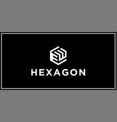 Ew hexagon logo design inspiration vector