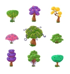 Fantastic Trees Set vector image