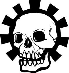 Gear Skull Full vector image vector image