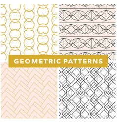 Geometric seamless pattern set vector