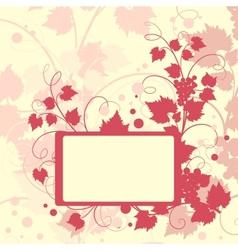 Grape background frame vector image