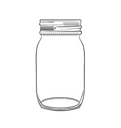 Hand drawn doodle jar vector