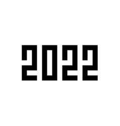 Happy new year 2022 pixel art style vector