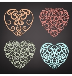 Heart pattern set vector image