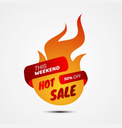 hot sale banner template design for business vector image