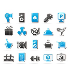 Hotel and motel services icons 2 vector