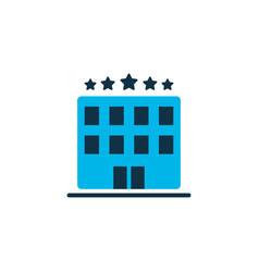 hotel icon colored symbol premium quality vector image