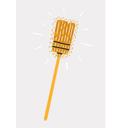 household used broom vector image