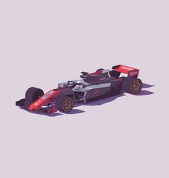 low poly formula racing car vector image