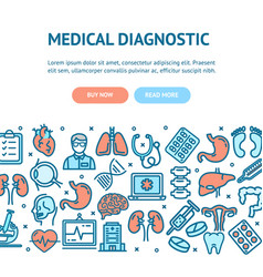 medical diagnostics flyer banner posters card vector image