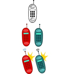 Mobile phone cartoon vector