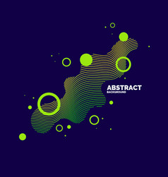 Modern abstract elements with dynamic waves vector