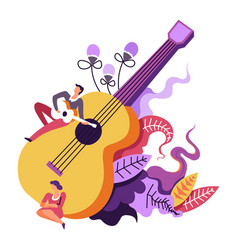 music concert musical performance of guitarist vector image