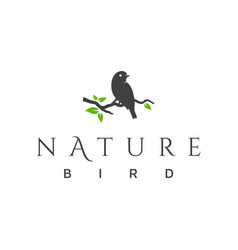 nature bird logo design vector image