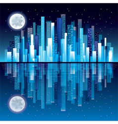 night city panorama vector image