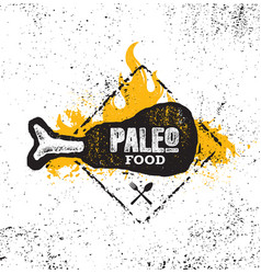 paleo food diet primal nutrition organic wholesome vector image