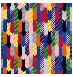 Rainbow tie seamless pattern vector