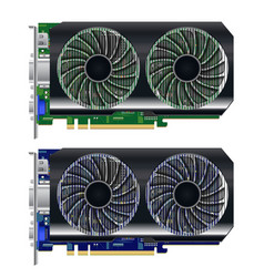 real computer graphic vga card on white background vector image