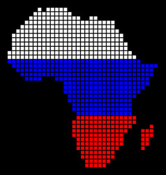 russia colors dot africa map vector image