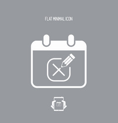 Save the date - minimal icon vector